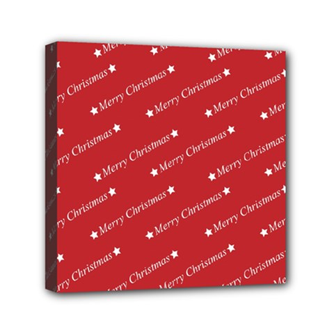 Christmas Paper Background Greeting Mini Canvas 6  x 6