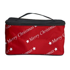 Christmas Paper Background Greeting Cosmetic Storage Case
