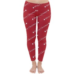 Christmas Paper Background Greeting Classic Winter Leggings