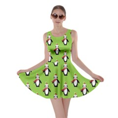 Christmas Penguin Penguins Cute Skater Dress
