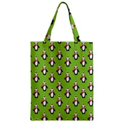 Christmas Penguin Penguins Cute Zipper Classic Tote Bag