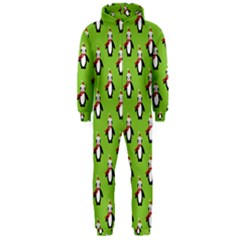 Christmas Penguin Penguins Cute Hooded Jumpsuit (Men)