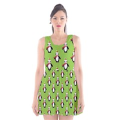 Christmas Penguin Penguins Cute Scoop Neck Skater Dress