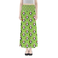Christmas Penguin Penguins Cute Maxi Skirts