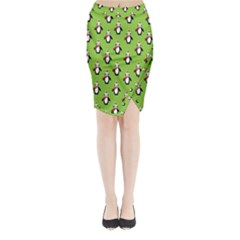 Christmas Penguin Penguins Cute Midi Wrap Pencil Skirt