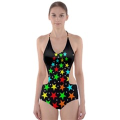 Christmas Time Cut-Out One Piece Swimsuit