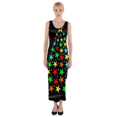 Christmas Time Fitted Maxi Dress