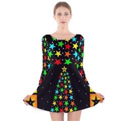 Christmas Time Long Sleeve Velvet Skater Dress