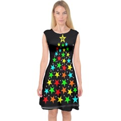 Christmas Time Capsleeve Midi Dress
