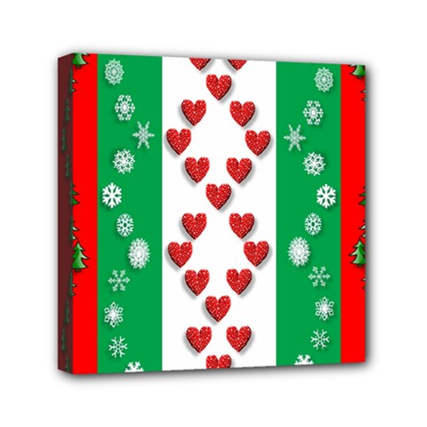 Christmas Snowflakes Christmas Trees Mini Canvas 6  x 6