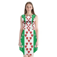 Christmas Snowflakes Christmas Trees Sleeveless Chiffon Dress