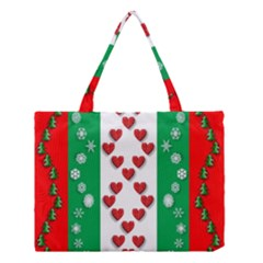 Christmas Snowflakes Christmas Trees Medium Tote Bag