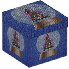 Christmas Snow Storage Stool 12
