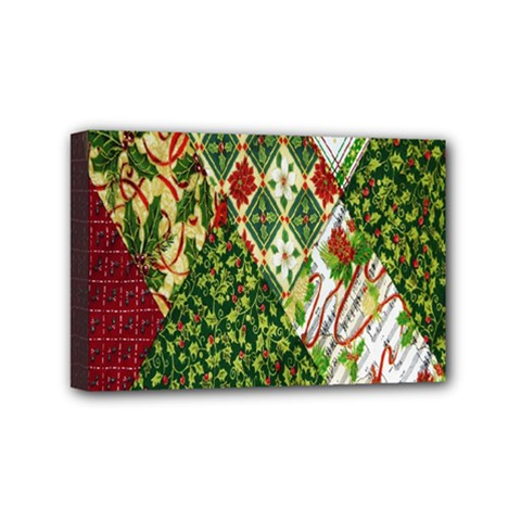 Christmas Quilt Background Mini Canvas 6  x 4