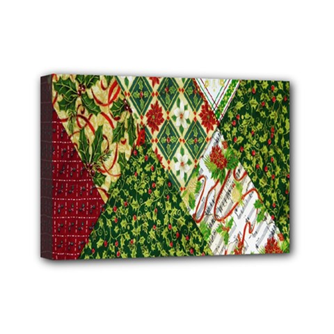 Christmas Quilt Background Mini Canvas 7  X 5