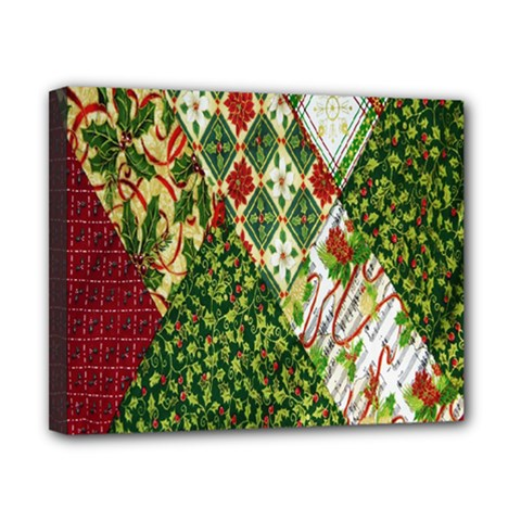 Christmas Quilt Background Canvas 10  x 8