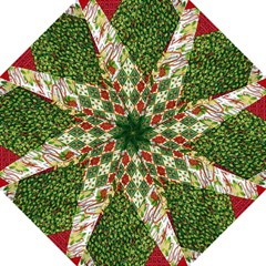 Christmas Quilt Background Folding Umbrellas