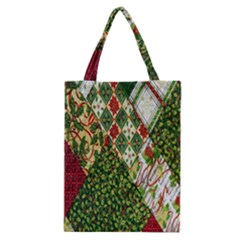 Christmas Quilt Background Classic Tote Bag