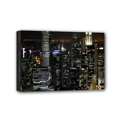 City At Night Lights Skyline Mini Canvas 6  x 4