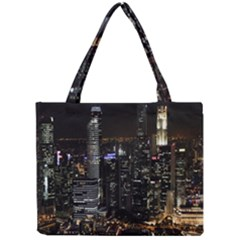 City At Night Lights Skyline Mini Tote Bag