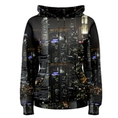 City At Night Lights Skyline Women s Pullover Hoodie
