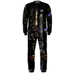 City At Night Lights Skyline OnePiece Jumpsuit (Men)