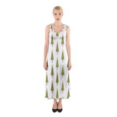 Christmas Tree Sleeveless Maxi Dress