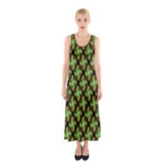 Computer Graphics Graphics Ornament Sleeveless Maxi Dress