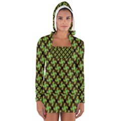 Computer Graphics Graphics Ornament Women s Long Sleeve Hooded T-shirt