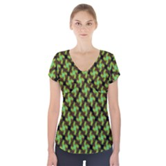 Computer Graphics Graphics Ornament Short Sleeve Front Detail Top
