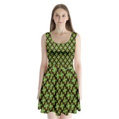 Computer Graphics Graphics Ornament Split Back Mini Dress