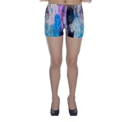 Peelingpaint Skinny Shorts