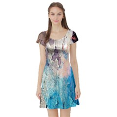 Peelingpaint Short Sleeve Skater Dress