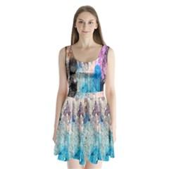 Peelingpaint Split Back Mini Dress