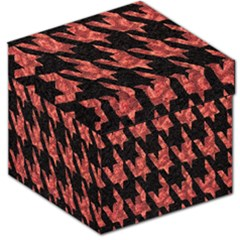 Dogstooth Pattern Closeup Storage Stool 12