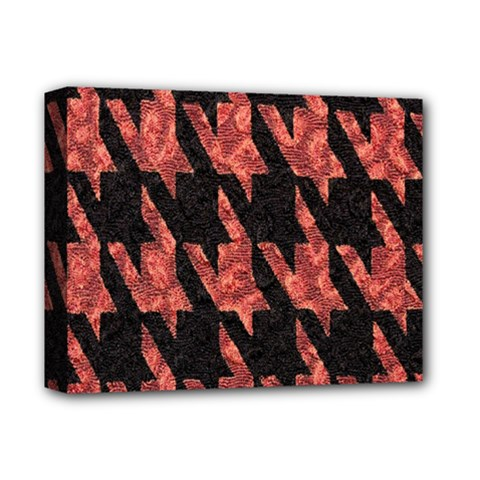 Dogstooth Pattern Closeup Deluxe Canvas 14  x 11