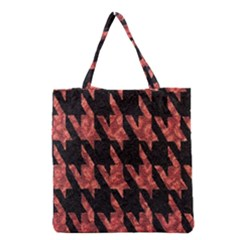 Dogstooth Pattern Closeup Grocery Tote Bag
