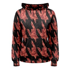 Dogstooth Pattern Closeup Women s Pullover Hoodie