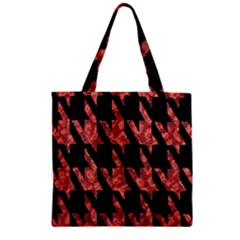 Dogstooth Pattern Closeup Zipper Grocery Tote Bag