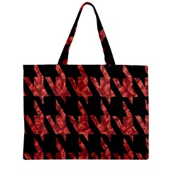 Dogstooth Pattern Closeup Zipper Mini Tote Bag