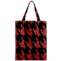 Dogstooth Pattern Closeup Zipper Classic Tote Bag