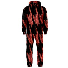 Dogstooth Pattern Closeup Hooded Jumpsuit (Men)