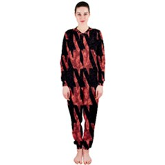 Dogstooth Pattern Closeup OnePiece Jumpsuit (Ladies)