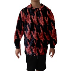 Dogstooth Pattern Closeup Hooded Wind Breaker (Kids)