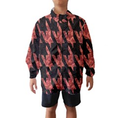 Dogstooth Pattern Closeup Wind Breaker (Kids)