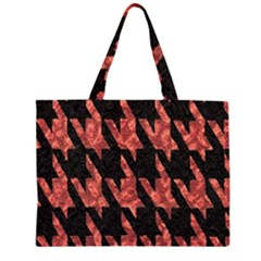 Dogstooth Pattern Closeup Large Tote Bag
