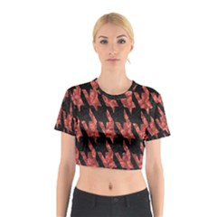 Dogstooth Pattern Closeup Cotton Crop Top