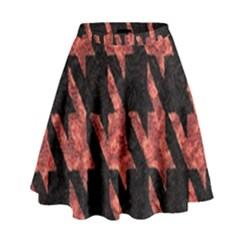 Dogstooth Pattern Closeup High Waist Skirt