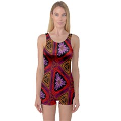 Computer Graphics Graphics Ornament One Piece Boyleg Swimsuit