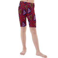Computer Graphics Graphics Ornament Kids  Mid Length Swim Shorts
